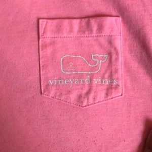Hot Pink Vineyard Vines Pocket T-shirt